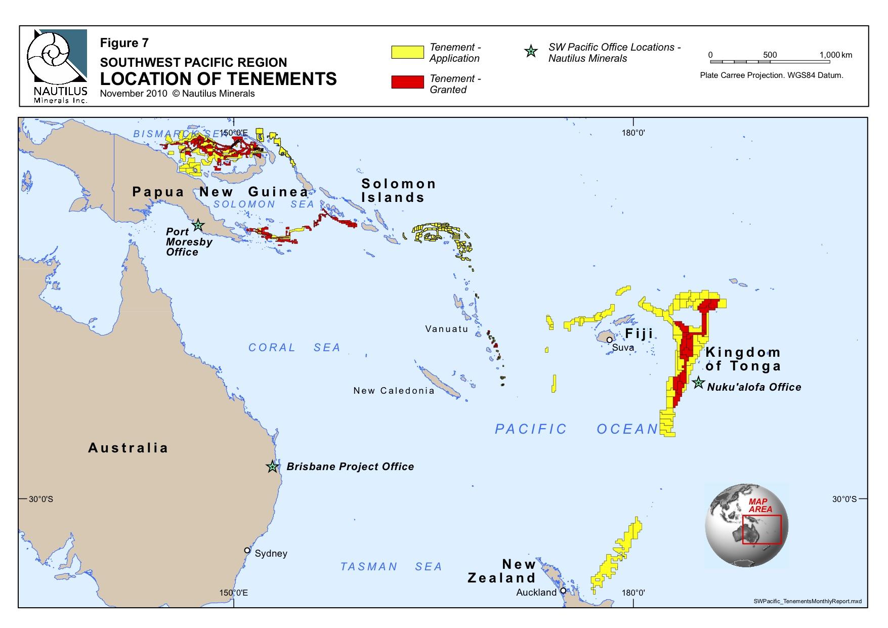 Nautilus SW Pacific Tenements